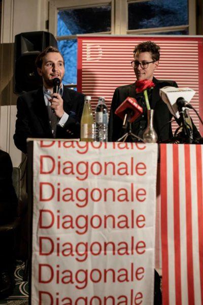 Diagonale'19: Präsentation des Eröffnungsfilmes im Grazer Cafe Promenade vom Intendantenduo Peter Schernhuber und Sebastian Höglinger. (Foto Diagonale/Miriam Raneburger)