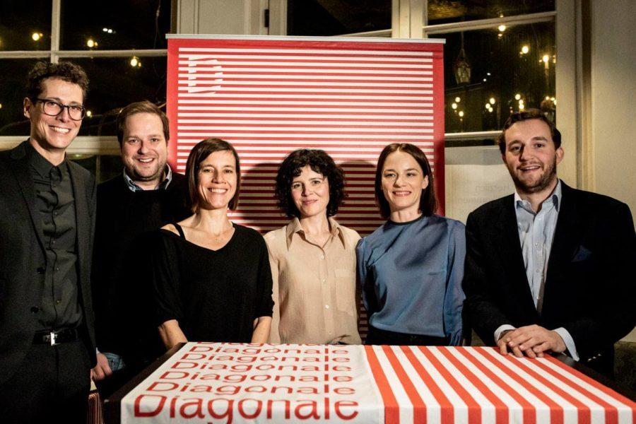 Diagonale'19 Präsentation im Cafe Promenade: Sebastian Höglinger, Alexander Glehr, Pia Hierzegger, Marie Kreutzer, Valerie Pachner und Peter Schernhuber (Foto Diagonale/Miriam Raneburger)
