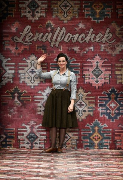 Die steirische Designerin Lena Hoschek begeisterte wieder einmal auf der Berlin Fashion Week mit ihrer Autumn/Winter 2019-Kollektion (Photo by Stefan Knauer/Getty Images for Lena Hoschek)