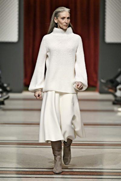 Auch das deutsche Model, Schauspielerin, Sängerin und Balletttänzerin Eveline Hall lief für Marc Cain. (Foto Marc Cain)
