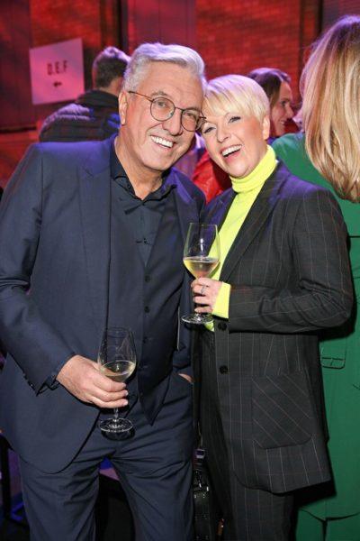 Helmut Schlotterer, Gründer und CEO von Marc Cain und Katja Konradi, Managing Director Design&Brand freuten sich über die gelungene Fashion Show (Photo by Gisela Schober/Getty Images for Marc Cain)