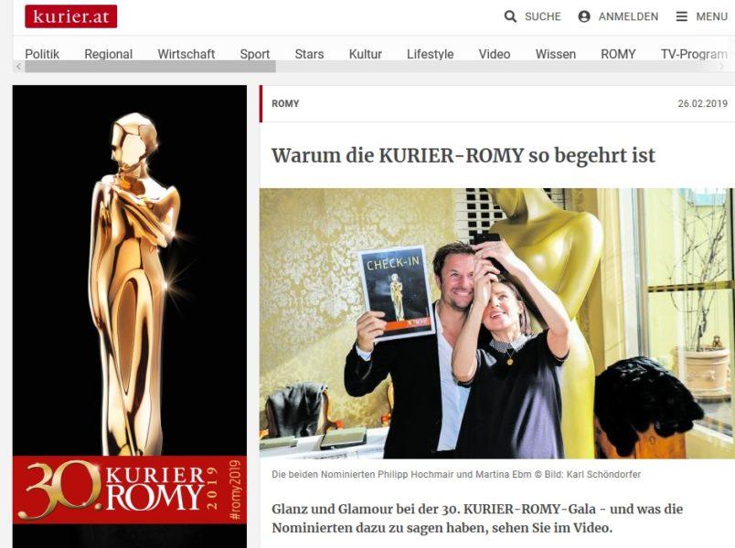 Nominierung bei der KURIER ROMY-Gala: Die Vorstadtweiber-Stars Martina Ebm und Philipp Hochmair. (Foto Kurier/ Karl Schöndorfer)