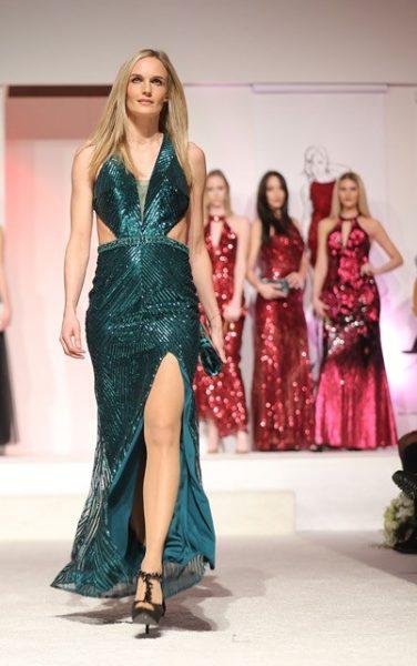 Brandboxx Fashion Night: Top-Model Patrica Kaiser und Models in Abendmode von Mascara London (FotoBrandboxx/Franz Neumayr)