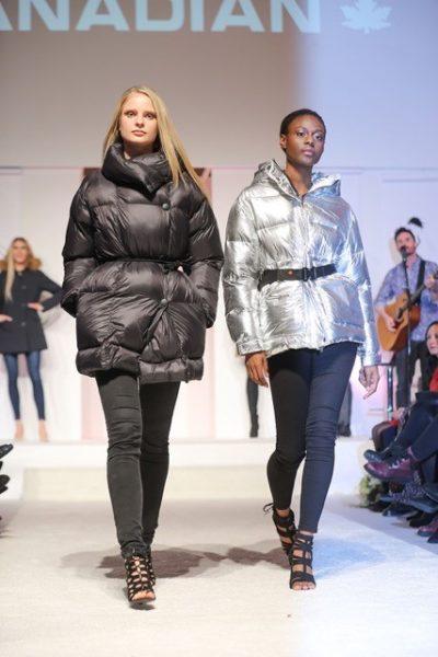 Models in der Winterkollektion von Canadian: Parkas und Mäntel mit Fellbesatz, mit Fake Fur in Leo-Optikoder im spacigen Metall-Look (Foto Brandboxx/Franz Neumayr)