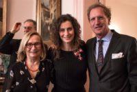 Österreichische Botschafterin in den Niederlanden Heidemaria Gürer, Pia Douwes, Niederländischer Botschafter in Österreich Marco Hennis (Foto Klok Media)