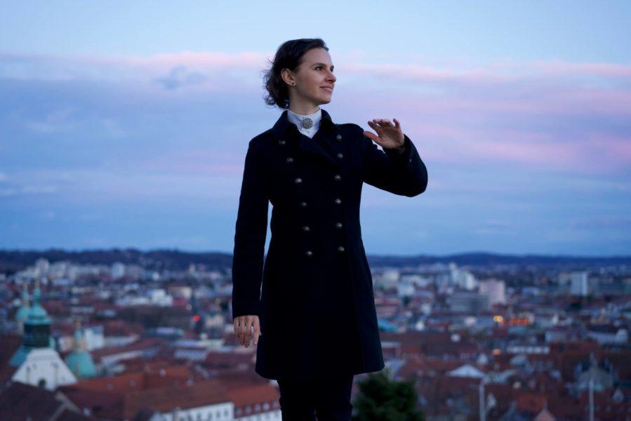 """Oksana Lyniv: """"Das Ukrainische Jugendsymphonieorchester wird beim Mozartfestival die 9. Sinfonie von Beethoven spielen - und dieses bringen wir im Kulturjahr Österreich-Ukraine 2019 am 9. und 10. September in den Musikverein nach Graz. (Foto Serhiy Horobets)"""