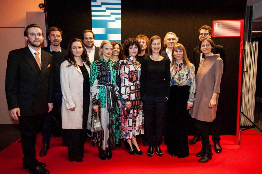 Eröffnung der Diagonale 2019: Peter Schernhuber, Alexander Glehr, Mavie Hörbiger, Marie Kreutzer und Leena Koppe (Foto Diagonale/Miriam Raneburger)