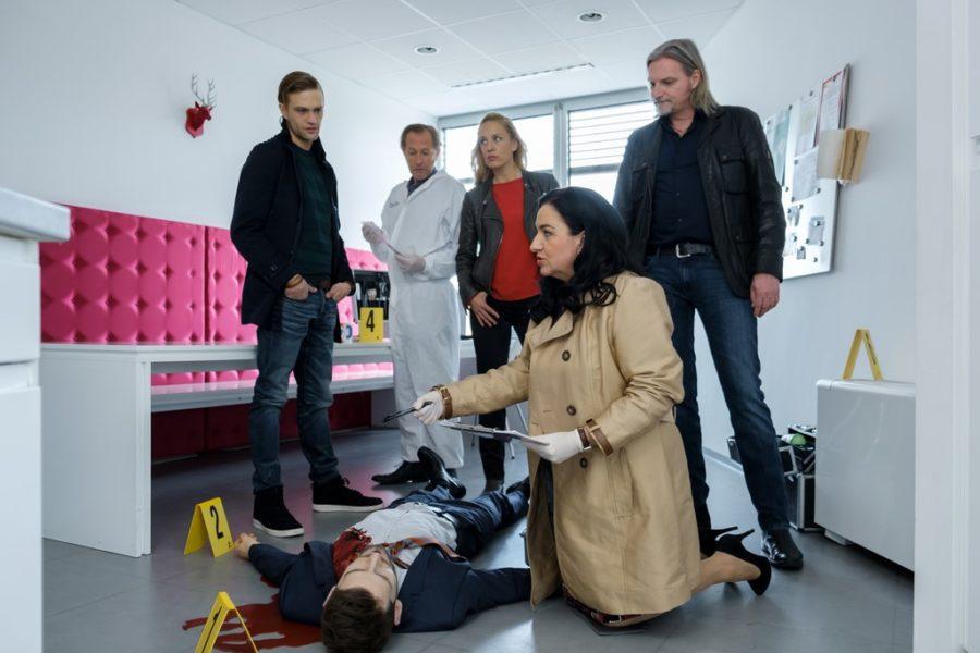 Soko Donau Team im Einsatz: Michael Steinocher, Helmut Bohatsch, Lilian Klebow, Stefan Jürgens und Maria Happel (Foto ROBIN CONSULT)