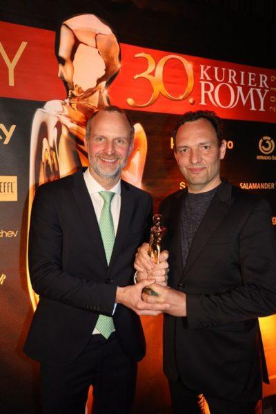 """Als """"Bester TV-Film"""" wurde die komplexe Produktion """"Unterwerfung"""" mit einer Kurier ROMY ausgezeichnet: Clemens Schaeffer und Titus Selge (Copyright Karl Schöndorfer TOPPRESS)"""