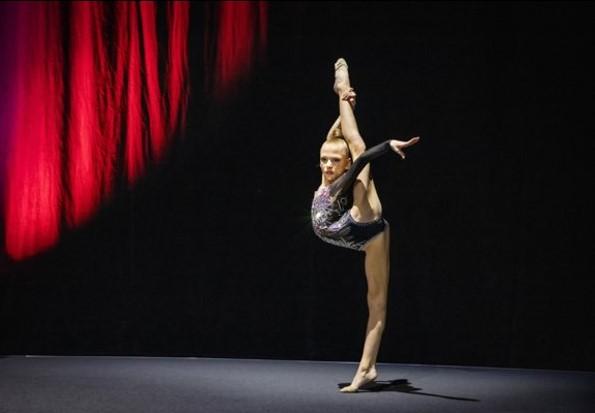 Nika Vardjan ist österreichische RG-Jugendmeisterin und zeigte eine hervorragende Performance in rhythmischer Gymnastik (Foto Johannes Kernmayer)
