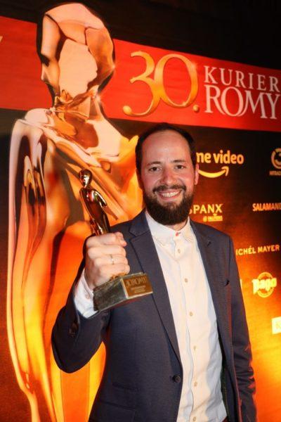 """Den Sonderpreis für die """"beste Programmidee"""" erhielten Philipp Käßbohrer und Jan Böhmermann für """"Lass dich überwachen! Die PRISM IS A DANCER Show"""". Im Bild Philipp Käßbohrer. (Copyright Karl Schöndorfer TOPPRESS)"""