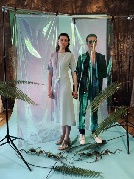 'Behind the Scenes' beim Shooting für die 2. Ausgabe des Aiola Living Magazins mit den beiden Models Paula Kautschitz und Heiko Avdic (Foto AIOLA)