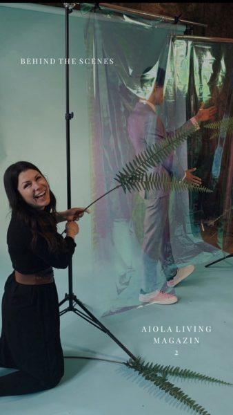 Shooting für die 2. Ausgabe des Aiola Living Magazin - Behind the scenes mit Judith Schwarz. (Foto AIOLA)