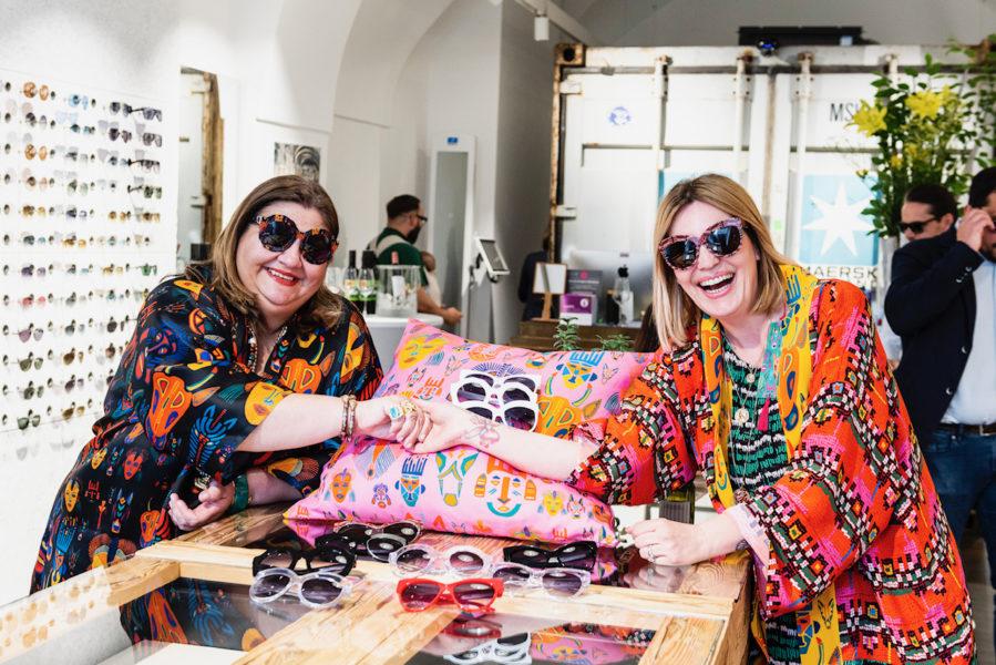 """Rianna zeigte sich begeistert über die Kollektion mit Andy Wolf Eyewear: """"Unsere Labels verbinden dieselben Werte: Wir produzieren von Hand, in Europa und nachhaltig."""" (Foto Philipp Podesser)"""