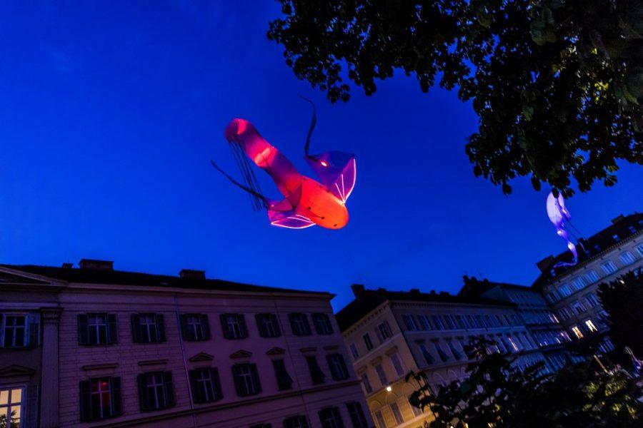 KLANGLICHT 2019: Les Luminéoles von Porté par le Vent am Grazer Opernring (Foto Marija Kanizaj)
