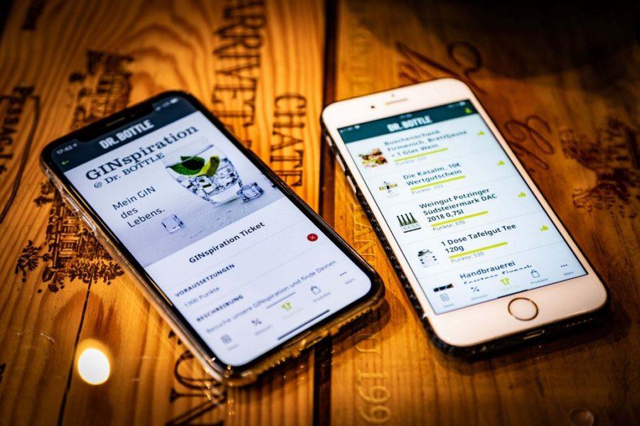 """Die """"Me & Dr. BOTTLE""""-App ist ein neuartiges, interaktives Treuebonus-System für Dr. BOTTLE-Kunden. (Foto Werner Krug)"""