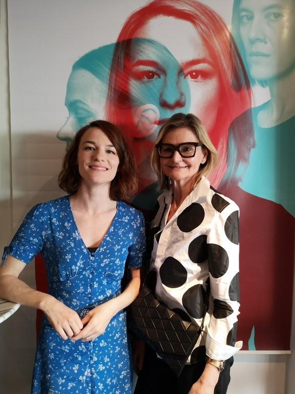 """Ich durfte die großartige Schauspielerin im Rahmen der Diagonale im Grazer """"KIZ RoyalKino"""" zu einem gemütlichen Interview treffen. (Foto privat)"""