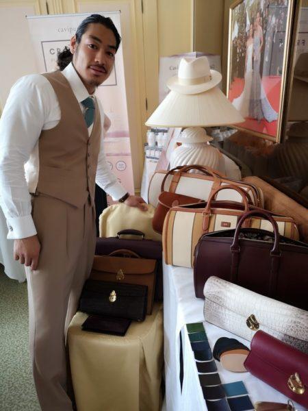 Der japanische Designer Keiichiro Fukushima presented handmade bags. (Photo Hedi Grager)