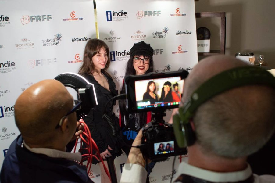 FRFF AwardFRFF Award Winner multi-instrumentalist, composer and producer Olivia Hadjiioannou and Laura Zamora, Winner of the category Animation (Photo FRFF)