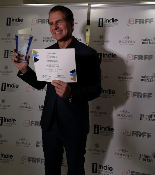 French Riviera Film Festival: Award Winner as Best Actor: Vincent De Paul, Mattyboy, (USA) (Photo Reinhard Sudy)