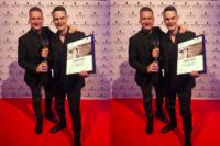 Edel WildWuchs Inhaber und Kopf von Xcessive Christopher Gröbl (li), mit seinem Bruder Dimitri Gröbl, dem Hairdresser Award-Gewinner in der Kategorie Damen Süd (FotoProntolux)