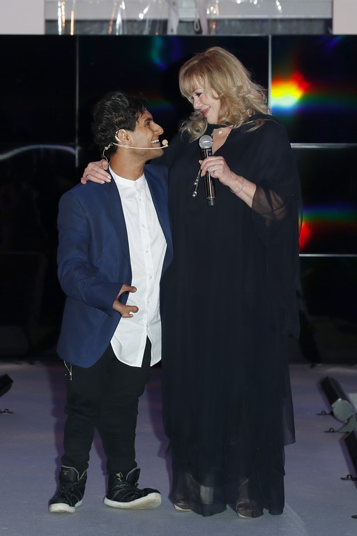 CINÉMOI 'STARS UNITED FOR GOOD' GALA in Cannes: A touching moment was Emmanuel Kelly's performance. Here with President of the Cinémoi Network Daphna Edwards (Photo by David M. Benett/Getty Images for Cinemoi)