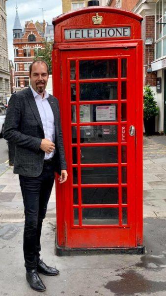 Der erfolgreiche Unternehmer ist beruflich sehr viel unterwegs, immer wieder auch in London. (Foto privat)