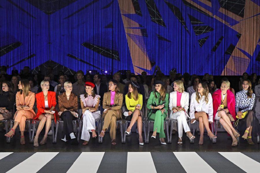 """Marc Cain präsentierte auf der Fashion Week Berlin die Frühjahr/Sommer Kollektionen 2020 unter dem Motto: """"Colour in Motion"""". (Photo by Andreas Rentz/Getty Images for Marc Cain)"""