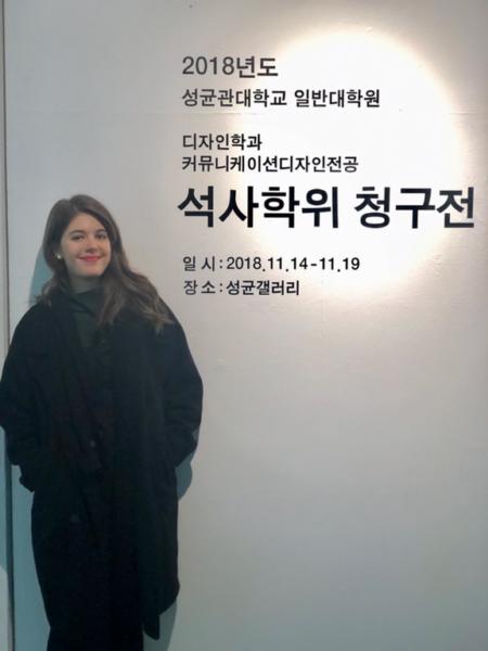 Nicola Hoff hat heuer ihr Masterstudium in Grafikdesign an der SKKU in Seoul erfolgreich abgeschlossen. (Foto privat)
