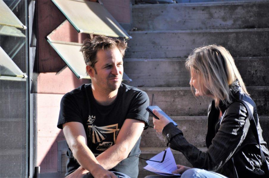 """Interview mit dem großartigen Schauspieler Philipp Hochmair vor seinem Auftritt als """"Jedermann"""" im Greith-Haus. (Foto Reinhard Sudy)"""