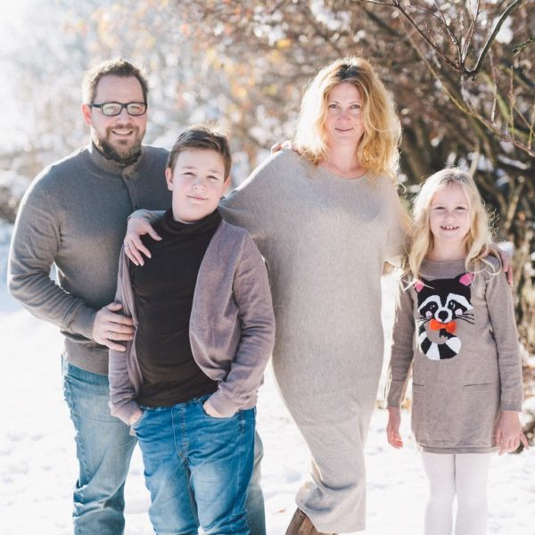 Familie Tanja und Markus Schlamadinger mit ihren Kindern Jakob und Johanna. (Foto Markus Schlamadinger)
