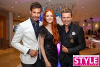 Brandboxx Fashion Night in Kooperation mit STYLE UP YOUR LIFE! Michael Lameraner, Model Barbara Meier und Adi Weiss (Foto Moni Fellner)