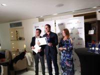 French Riviera Film Festival 2019: Award Winner Vincent de Paul with Gotham Chandna und Nicole Muj (Photo privat)