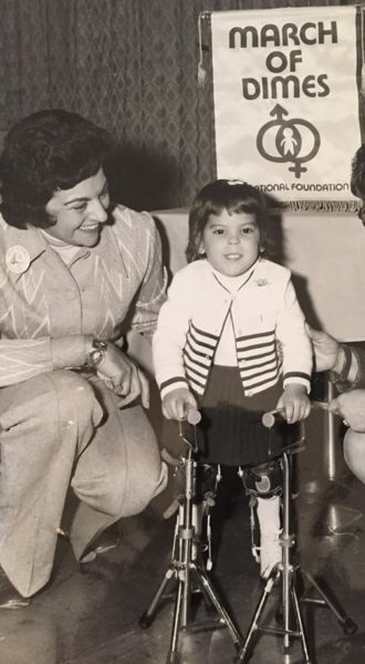 Vincent de Pauls mother Maria chaired the March of Dimes, Children with Birth Defects. (Photo privat)