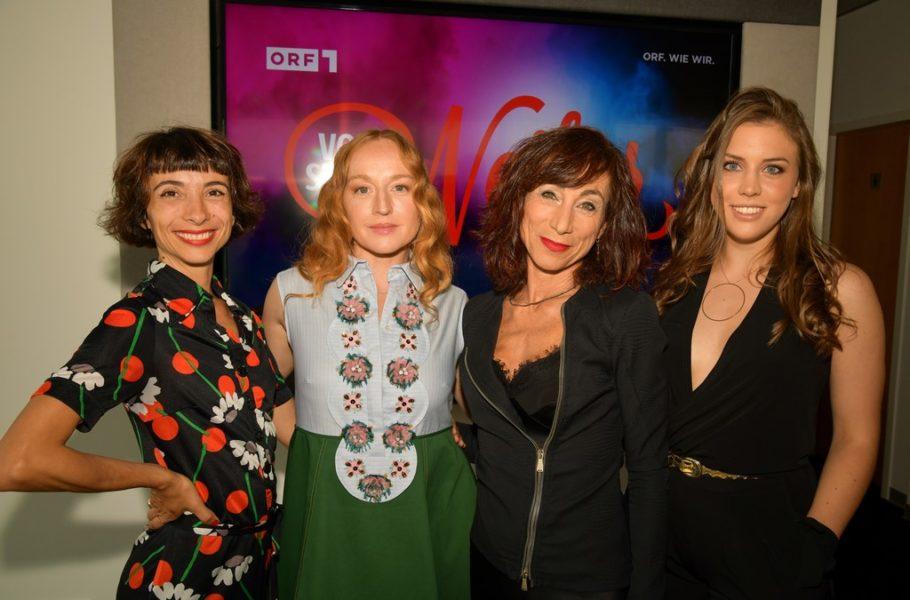 """""""Neu-Vorstadtweiber"""" der vierten Staffel: Ruth Brauer-Kvam, Brigitte Hobmeier, Andrea Eckert und Alina Schaller. (Foto ORF/Thomas Ramstorfer)"""