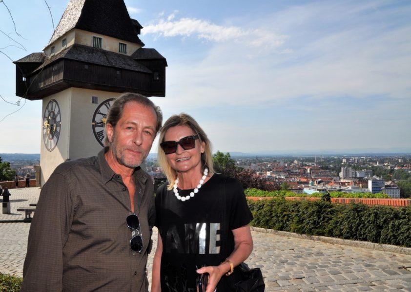 In einem Interview am Grazer Schlossberg, wo Helmut Bohatsch für Dreharbeiten zur SOKO Donau-Serie war, erzählte er mir einiges zu seiner Rolle aber auch über seine Liebe zur Musik. (Foto Reinhard Sudy)