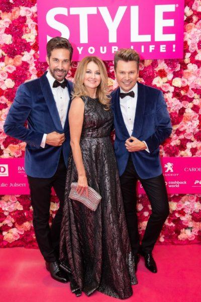 Durch den Abend führteStar-Moderatorin Frauke Ludowig. Michael Lameraner, Frauke Ludowig und Adi Weiss. (Foto Moni Fellner)