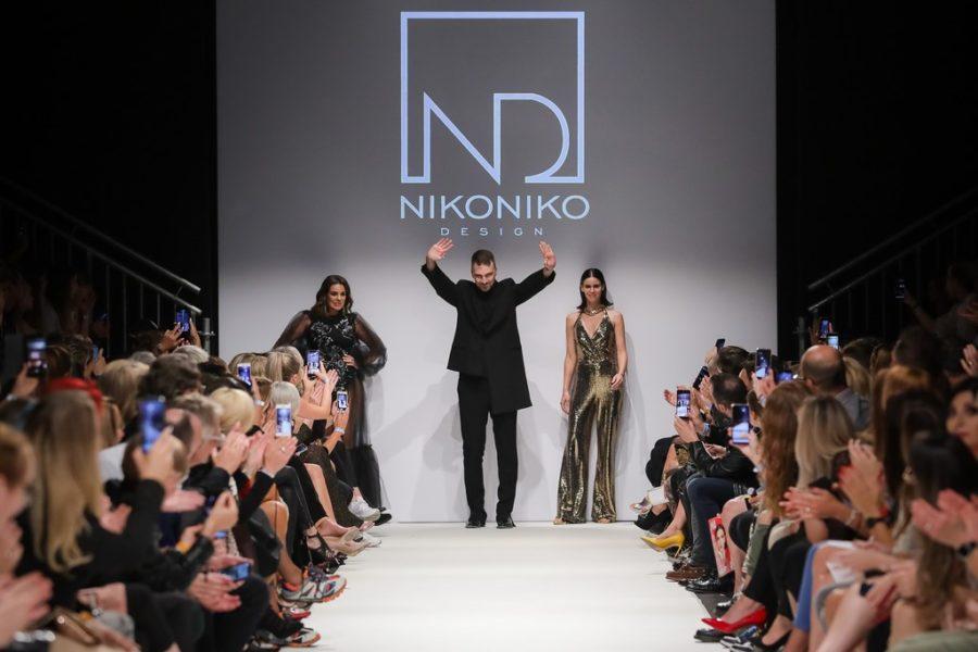 NIKO NIKO DESIGN auf der MQ Vienna Fashion Week mit den Topmodels Nadine Mirada und Kerstin Lechner (Foto NIKO NIKO DESIGN)