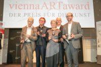 viennaARTaward 2019: Preisträger Wolfdietrich Hassfurther, Hans-Peter Wipplinger, Getraud und Dieter Bogner sowie Martin Janda. (Foto ROBIN CONSULT/Lepsi)