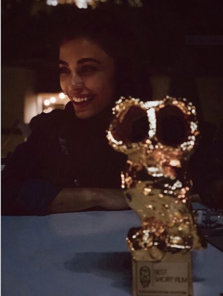 """Dena Rassam has been very successful with her short film """"Tattoo"""". She has especially been happy about """"Golden Owl"""", which she received from the Tirana International Film Festival. (Photo private)"""