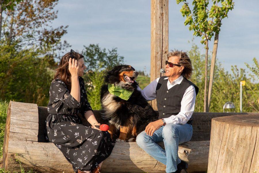 Sandra Suppan im Interview mit Hansi Hinterseer. (Foto privat)