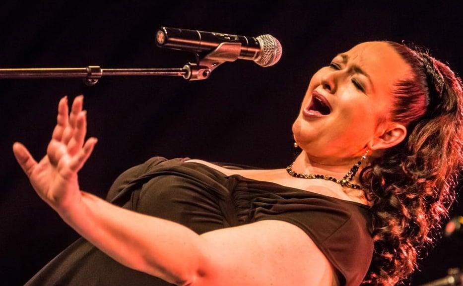 """Tini Kainrath ist musikalisch so gut wie überall zu Hause, interpretiert Soul, Rock, Blues, Wiener Lied, Jazz, Pop - und bei """"Liebe ohne Leiden"""" nun auch Schlager. (Foto SI Club Graz Rubin)"""