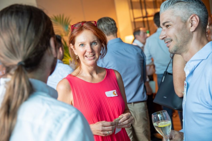 'FUEGO® Austria', die Initiative für Familienunternehmen ist eine Herzensangelegenheit von Gabriele Slamanig. Hier bei einem FUEGO® Austria Netzwerkabend (Fotorechte by Gimpl)