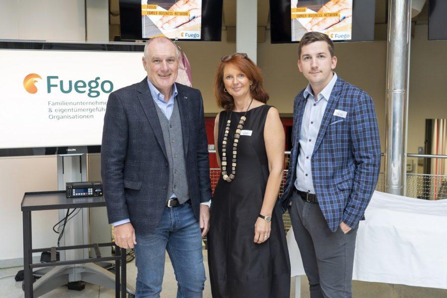 Gerhard Koch, Direktor von ORF Steiermark, Gabi Slamanig und Hannes Schreiner, Marketing und Projektentwicklung Technopark Raaba, im ORF Steiermark. (Foto Fischer)