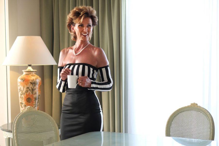 Liane Wirzberger bei einem Shooting im Hotel Baron Palace Sahl Hasheesh. (Foto William Balser)