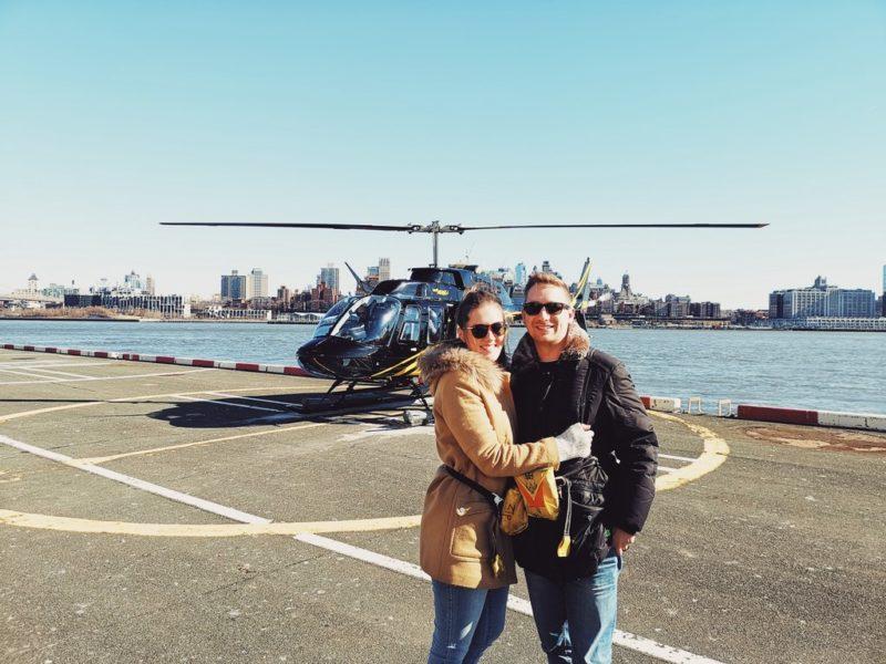 Der Helicopter Rundflug über New York mit ihrem Lebenspartner Gero Jammernegg war heuer eines der schönsten Erlebnisse für Monika Tinnauer. (Foto privat)