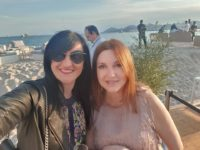 Nicole Muj and her friend Maria Muzs in Cannes. (Photo private)