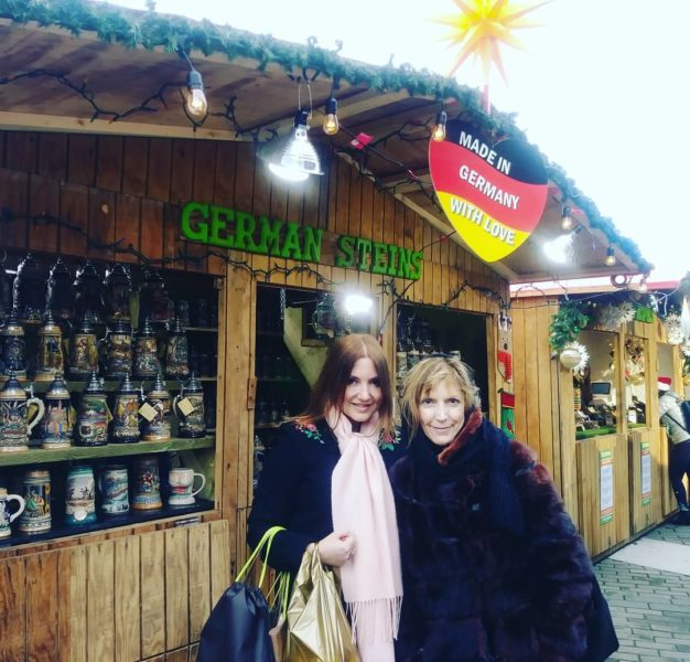 Nicole Muj with her sister at Vancouver Christmas Market. (Photo private)