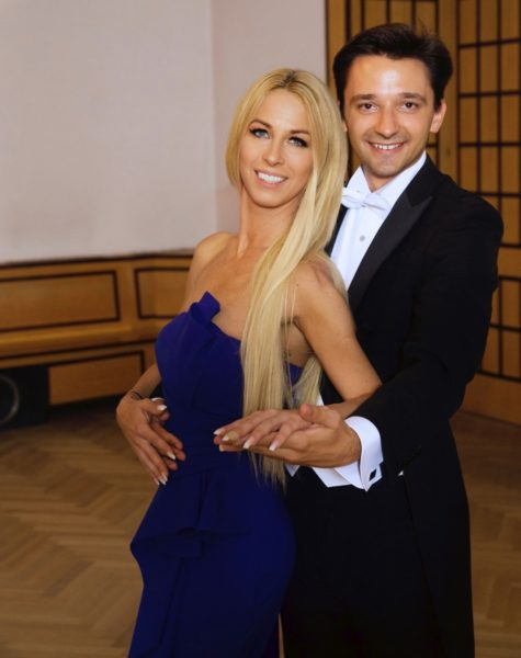 "Yvonne Rueff und Mathias Christian mit ""Wanna dance"" bei der Golden Night 2019 in den Sofiensälen Wien. (Foto privat)"