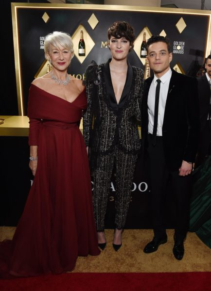 Moët & Chandon at the 77th Golden Globes: Helen Mirren, Phoebe Waller-Bridge & Rami Malek. (Foto Moët & Chandon)